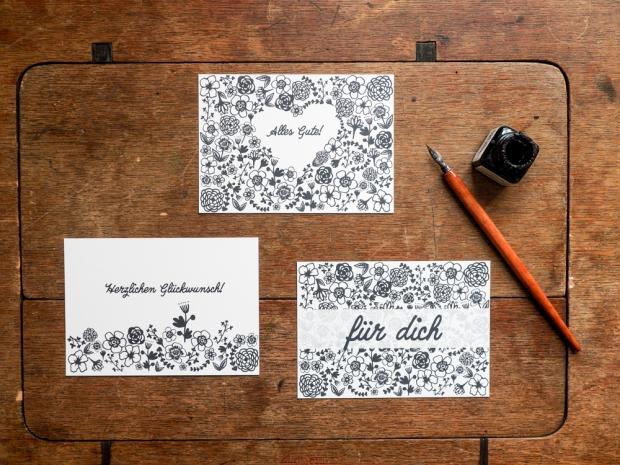 Postkartenset von handgemachtvonsarahh