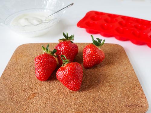 DIY Anleitung für Erdbeeren Frozen Joghurt