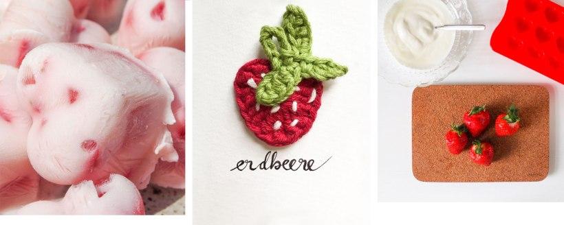 DIY Frozen Joghurt mit Erdbeeren
