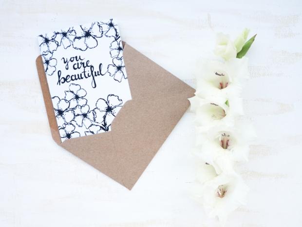 Glückwunschkarte, ein schönes Geschenk für geliebte Menschen